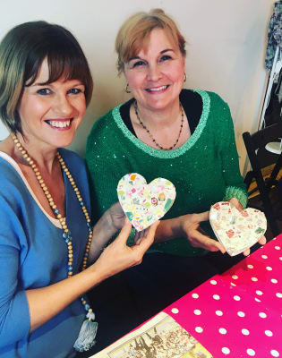 Ladies Night Bring your own Prosecco (optional) Make a Mosaic Heart or House using Vintage China by The Mosaic Tutor - art in London