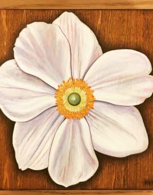 Wood Block Flower Portrait by Craft My Day - art in London