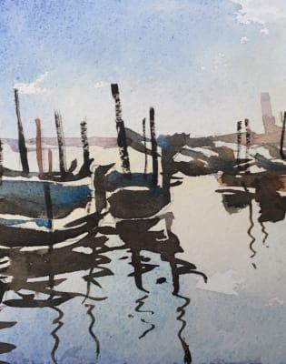 Watercolour Landscape Painting by Frank Watercolours - art in London