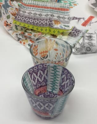 Create a set of tea-light holders with decoupage by Creative Happy London - crafts in London