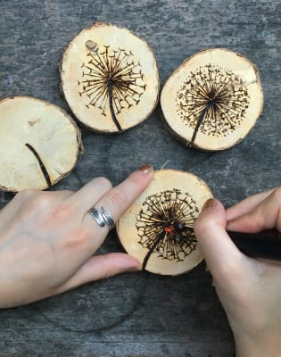 Wood Burning Workshop with MadeByMaika by Studio 73 - crafts in London