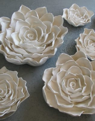Ceramic Plate and bowl making, with decorations  by Cernamic - art in London