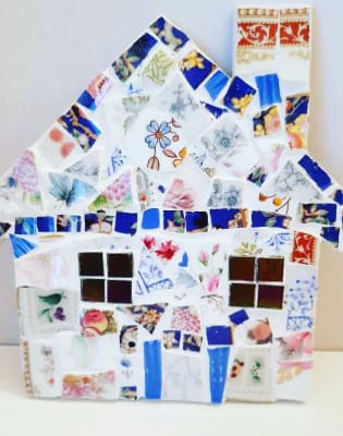 Mosaic Workshop - Make a Quirky Mosaic House using Vintage China Suitable for Adults & Children by The Mosaic Tutor - art in London