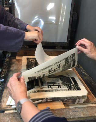 Introduction to Stone Lithography Printmaking by Slaughterhaus Print Studio - art in London