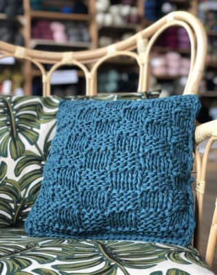 Knitting for Beginners: Make a Chunky Cushion Cover by The Village Haberdashery - crafts in London