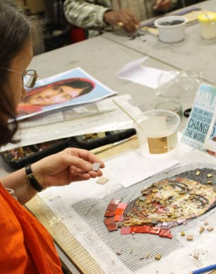 Portraits in Mosaic by London School of Mosaic - art in London