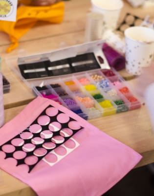 Decorate & Embellish a West Elm Cushion Cover - Christmas Workshop by Embellished Talk - crafts in London