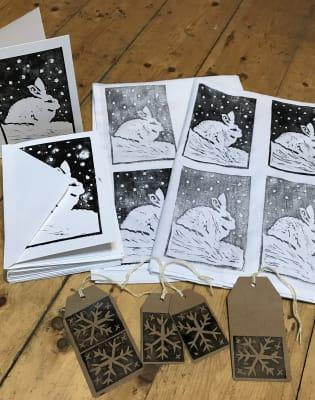 Christmas Craft Printing by Lavender Print School - art in London
