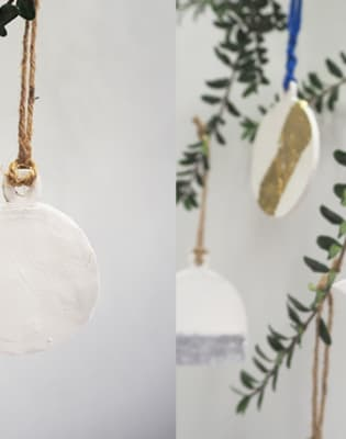 Make Your Own Ceramic and Gold Leaf Decorations by Studio Lune - art in London