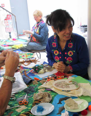 Studying & Stitching your own 'Arpillera' textile art with Bella Lane  by Fabrications - crafts in London