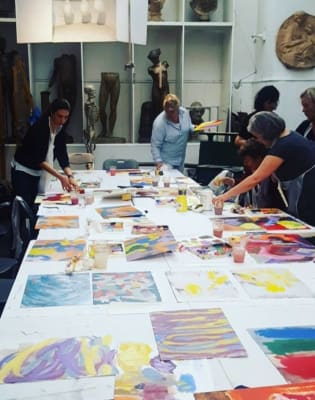 Painting class with wine after work! by Zarina Belic - art in London