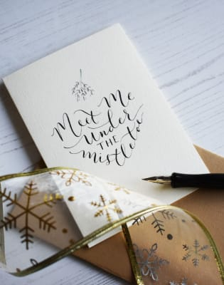 Christmas Modern Calligraphy Workshop by Babooche Calligraphy - art in London