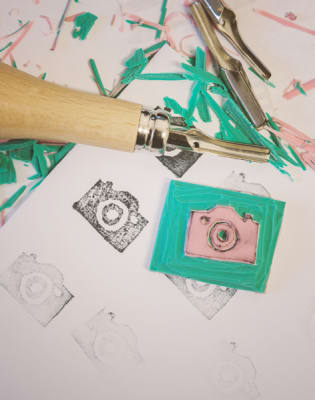 Beginner Lino Printing by Tea & Crafting - art in London