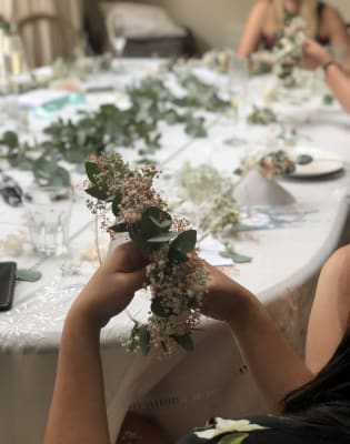 Dried Flower Crown making workshop by Sophie and Luna London - crafts in London