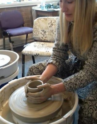 Beginners Pottery Wheel Class by Suzan Art Pottery - art in London