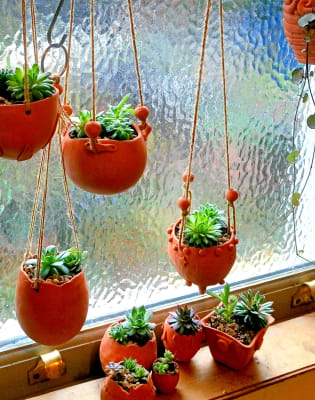 Make Ceramic Hanging Plant Holders by The Potting Shed London - art in London