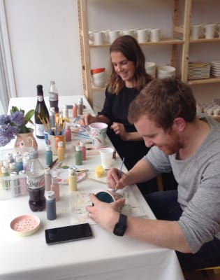 Paint Your Own Ceramics & BYOB by Holl Studios - art in London