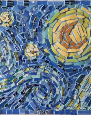 Mosaic Study of Van Gogh in China, Crockery and Ceramics  by London School of Mosaic - art in London