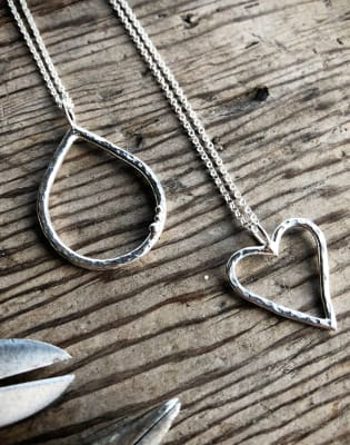 Beginners Jewellery Making - Silversmithing a pendant by Grace and Flora - crafts in London
