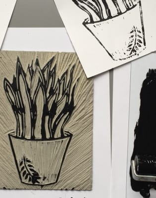 Linocut printing - Alternative Christmas Cards by The Makers Studio - art in London