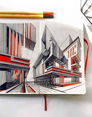 Architectural Perspective Drawing Course by Token Studio - art in London