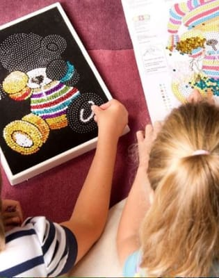 Kid No Sequin Sequin Art Class by Crafty Arts - crafts in London