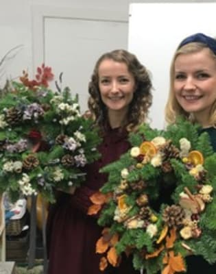 Wreath Making with the amazing Flower Factory by Pearl and Groove - crafts in London