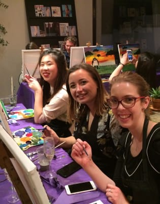 Painting and Pasta by PopUp Painting - art in London
