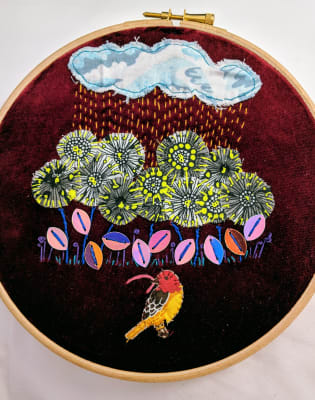 Embroidered Applique Workshop for Beginners by Box and Roll - crafts in London