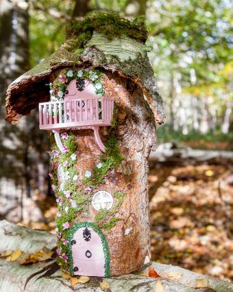 Create an Enchanting Real Log Fairy House