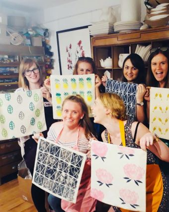 Make Your Own Lino Printed Cushions and Tea Towels!