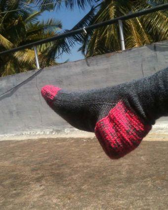 Learn to knit socks on 2 Needles with Jill Bulgan