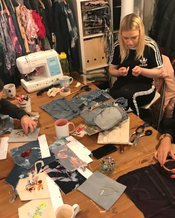 Design your own Denim Clutch Bag with a Sustainable Fashion Designer