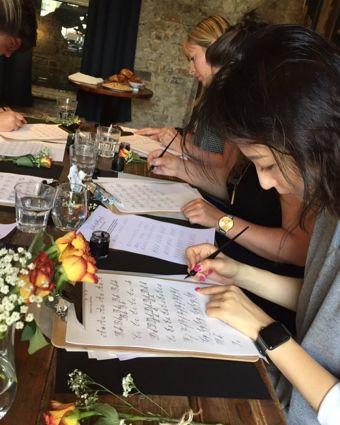 Beginner's Modern Calligraphy Workshop at Wilton's