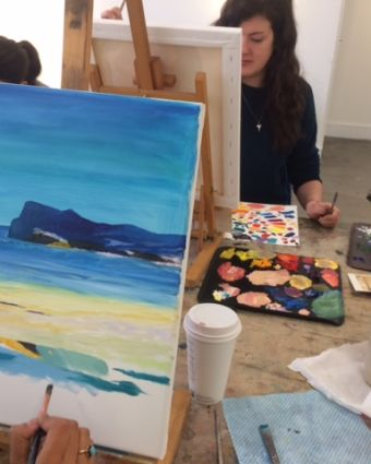 Beginners In Oil Painting Class