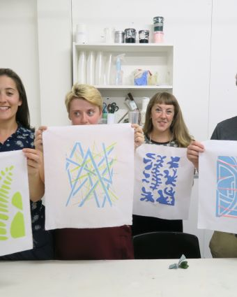 Screen Printing onto Textiles for Beginners
