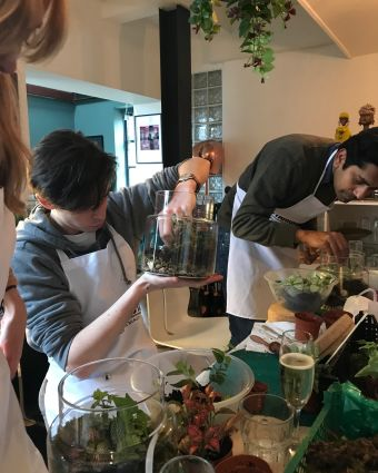 Terrarium Workshop with Botanical Boys at Obby Pop Up at Make More Festival