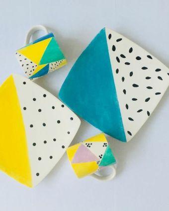 Make Your Own Crockery Set - Painted Ceramics - 2 part