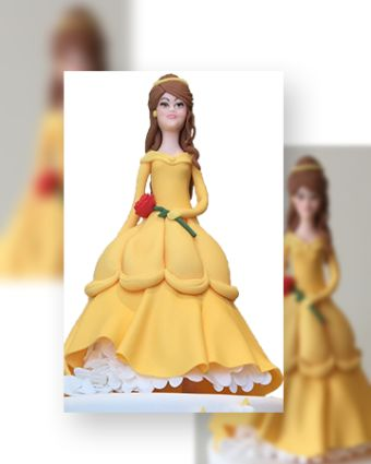 Cake Decorating: Princess with a Red Rose