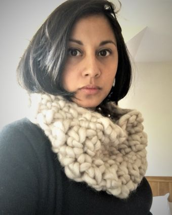 Crochet a super duper chunky cowl scarf snood