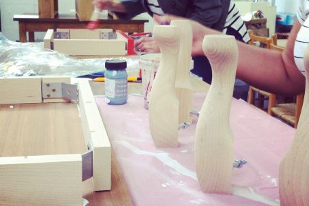 Learn how to make a footstool from scratch in this upholstery course by The Old School Club in Battersea, London