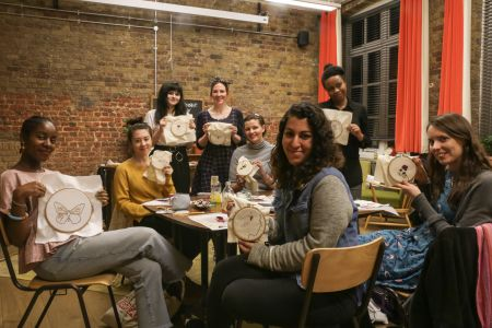 Embroidery Workshop in West Elm