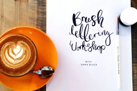 Discover brush lettering techniques and develop your lettering skills with the Brush lettering Workshop by Emma Block in West Hampstead, London.