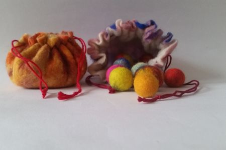 Felt Marbles & A Drawstring Pouch Workshop