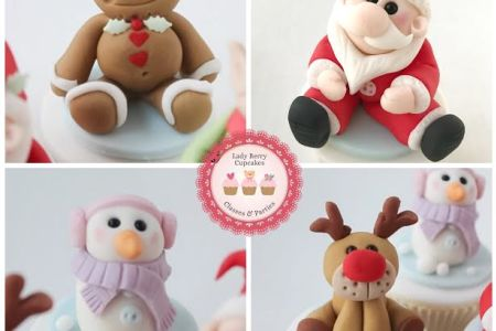 Christmas modelling class for cupcakes in Wandsworth - Obby