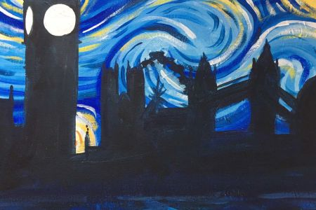 Paint a snowy Starry Night in Bayswater - Obby
