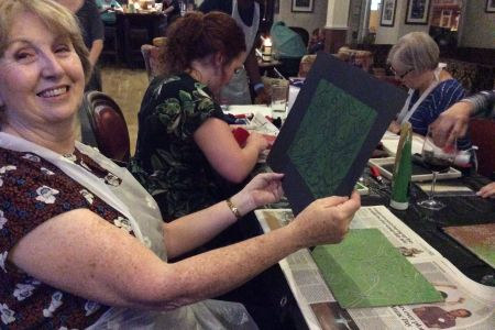 A different Workshop every month - printing, felting, drawing, wire modelling, ink, pastel, painting