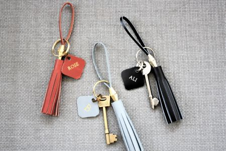 Make a Luxury Leather Key Ring and Personalise it.