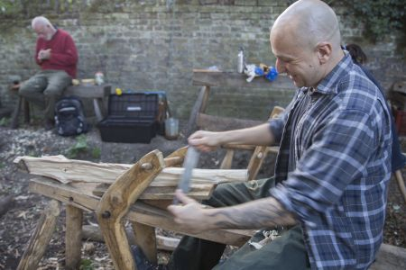 introduction to green woodwork, learning the basics in woodland carpentry