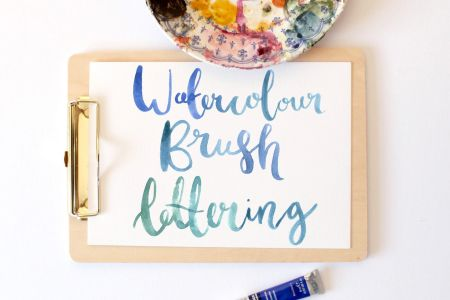 Learn the basics of watercolour lettering in Emma Block's 'Watercolour Brush Lettering Workshop' in West Hempstead, London.Learn the basics of watercolour lettering in Emma Block's 'Watercolour Brush Lettering Workshop' in West Hempstead, London.